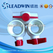white Body Red long Handle PVC Ball Valve