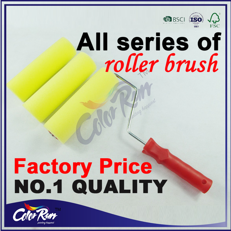 ColorRun High quality plastic handle decorative textured foam paint roller