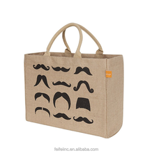 Wholesale Customized Fancy Jute Tote Bag Canvas Tote Bag