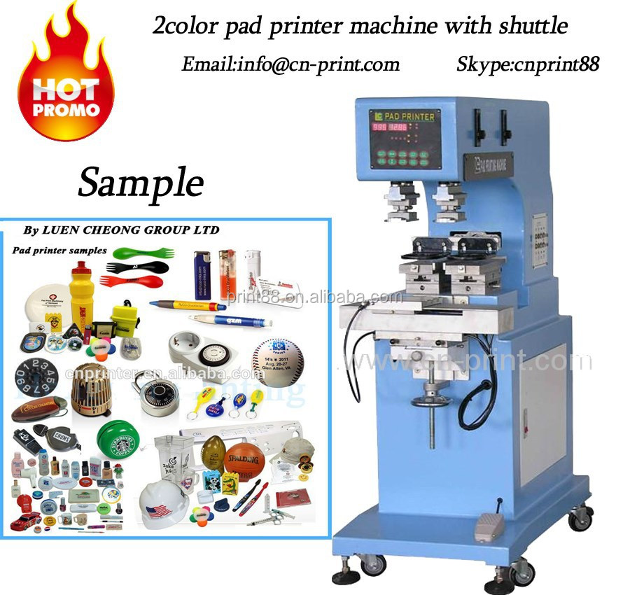 2-colo high speed pad printing process system pad printer machine LC-PM2-100T multi color pad printing machine with shuttle