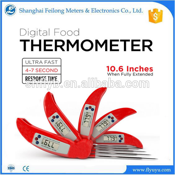 manufacturer price meat fold thermometer beef chicken fold bbq thermometer