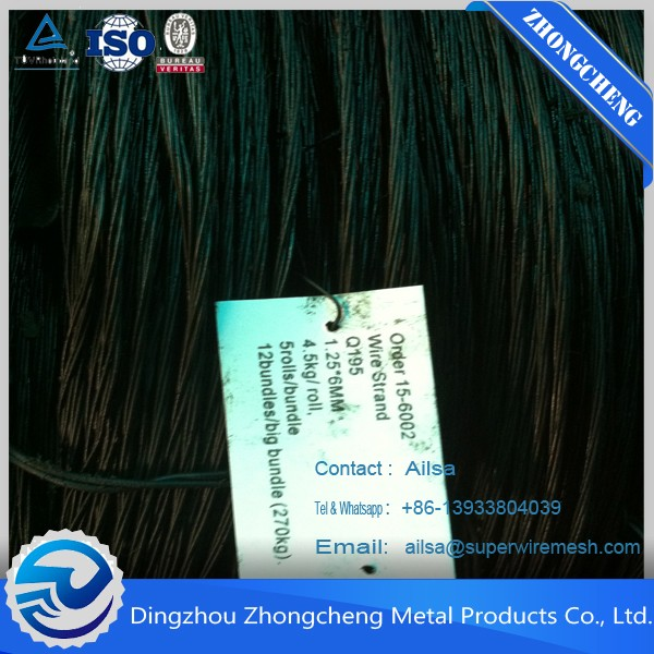 ALIBABA BWG16 black annealed wire/ construction iron rod/ black annealed twisted wire China Factory