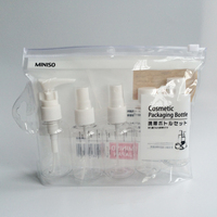 travel pvc zip bag cosmetic packaging bottle with Euro slot