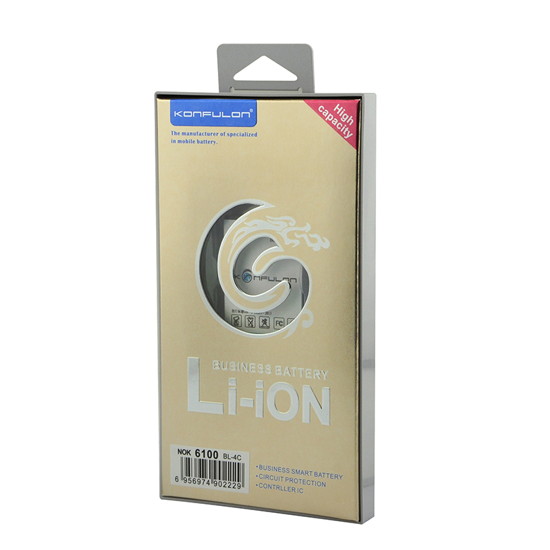 konfulon Original Li-ion battery For Nokia BL-4c 850mah standard mobile phone battery for 6100 /3108 (BL-4C)