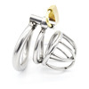 Super Small Male Chastity Device 35MM Adult Cock Cage With arc-shaped Cock Ring Sex Toys Stainless Steel Chastity Belt A224
