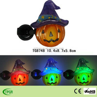 Halloween polyresin pumpkin window led solar night light for home decor