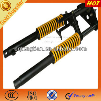 Three motorcycle front shock absorber