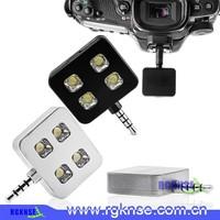 external brightness control camera led flash 4 lights flash