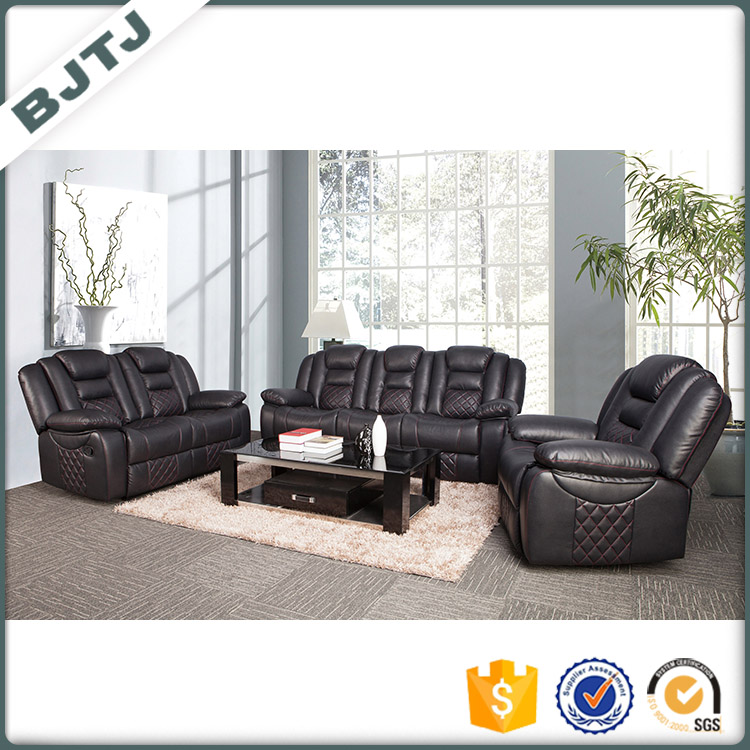 BJTJ luxury PU leather modern design recliner sectional sofa sets 70599