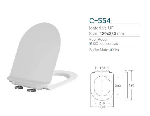HOT Sell ! ! Pure UF sanitaryware toilet seat cover with slow fall function/ plastic seat cover