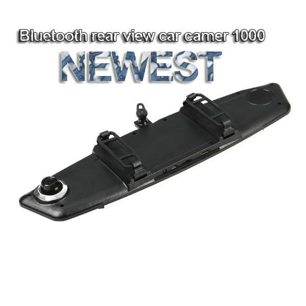 Hot sell Bluetooth rear view mirror car DVR camera 4.3 inch screen in car camera 1080P black box for car