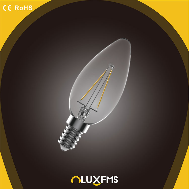 chandelier 4w led filament bulb,ilamp dimmable e14 led candle light,good quality filament led bulb