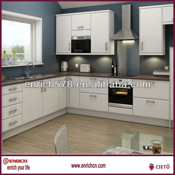 Smart Kitchen Design Sample With MDF Kitchen Cabinets Carcase