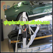 Two Level 2 Post Tilt Parking Lift/ double stack parking system/ hydraulic car park lift