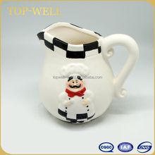 Bistro chef ceramic milk jug