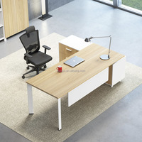 China manufacturer modern executive office desk office furniture with return