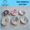 Fabric cover button parts with aluminum bottom for craft