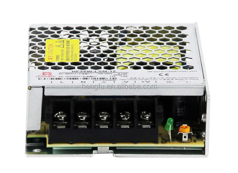 Hengfu power supply HF35W-LSM-12 single output super slim switching power supply with CE,CB and CCCapproval