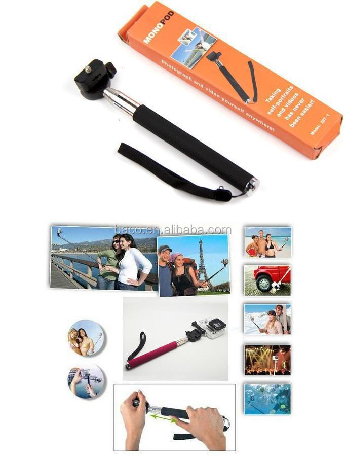 GP54 sport camera sj4000 accessories Monopod with Max Length 108CM, with adapter