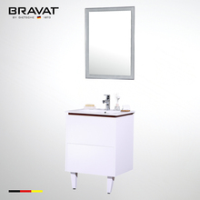 Factory direct wooden classical modern white spanish bathroom furniture