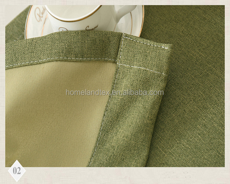 Solid color linen finished products Living room curtain fabric quality modern brief natural color Bedroom Curtain