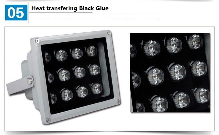 IP65 outdoor waterproof dmx rgb 24w led flood light for garden