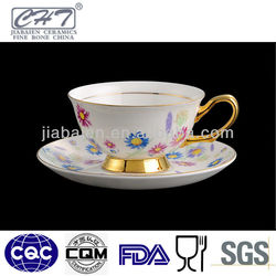 Popular elegant ceramic cup and saucer set for coffee house