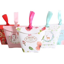 Special custom joyful wedding gift candy box lamination cardboard pretty lucky high grade white candy box