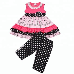 Vintage Stylish Children Capris Set Without Dress Bulk Wholesale Kids Girls Clothing Sets