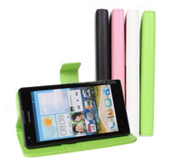 Durable PU Leather Phone Case for Huawei Ascend G700 Cover