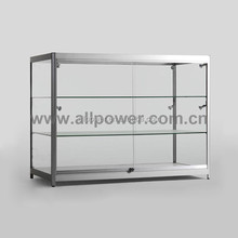 High Gloss Aluminium Framed Tempered Glass Display Cabinets, Glass Vitrine Racks Accept Customerization Design