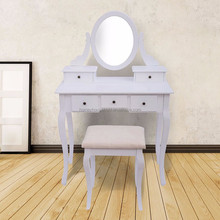 Vintage dresser with oval mirror shabby antique vanity chic cottage dressing table distressed