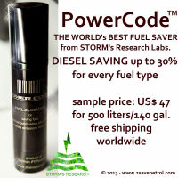 Fuel saver - 30% saving effect for cars, trucks and ships