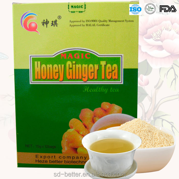 Instant Ginger Tea with Honey, FTA/HALAL/ISO Certificate