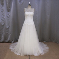 real pictures of champagne royal blue sheath wedding dress