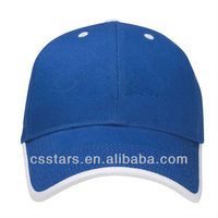 Royal/White Brushed Cotton Twill Baseball Hat