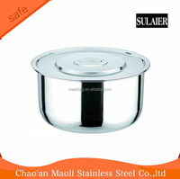 5pcs hot sale stainless steel stock pot,mixing pot for India