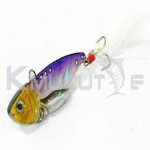 Kmucutie CH14LP24 popular design metal spoon fishing lure sinking vibe bait