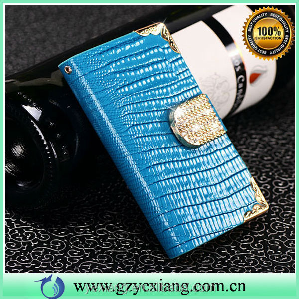 Card Holder Leather Case For iPhone 5 5G Bling Diamond Magnet Cover
