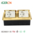 EU style copper alloy double Dual / double Floor mounted pop up floor socket with RJ45