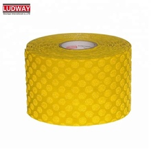 Durability super visibility dot reflective yellow road safety warning adhesive anti slip marking tape