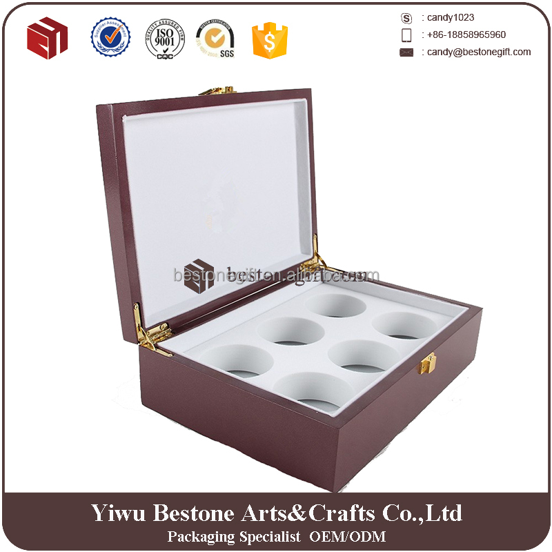 2016 Luxurious Custom Logo Wooden Perfume Box