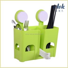 Multi-function plastic wall mounted kitchen chopsticks storage suction rack
