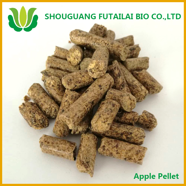 brown biomass apfeltrester apple pellet