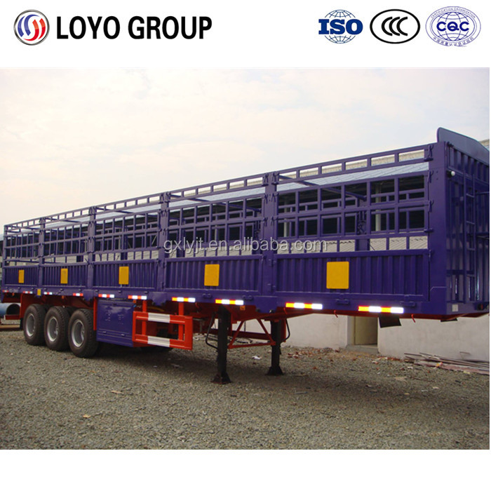 Transportation truck for agricultural stake semi trailer for sale