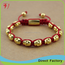 Hot Sell 8mm Sea Sediment Natural stone Beads & Skull for Men Bracelet & Bangles Fashion Jewelry
