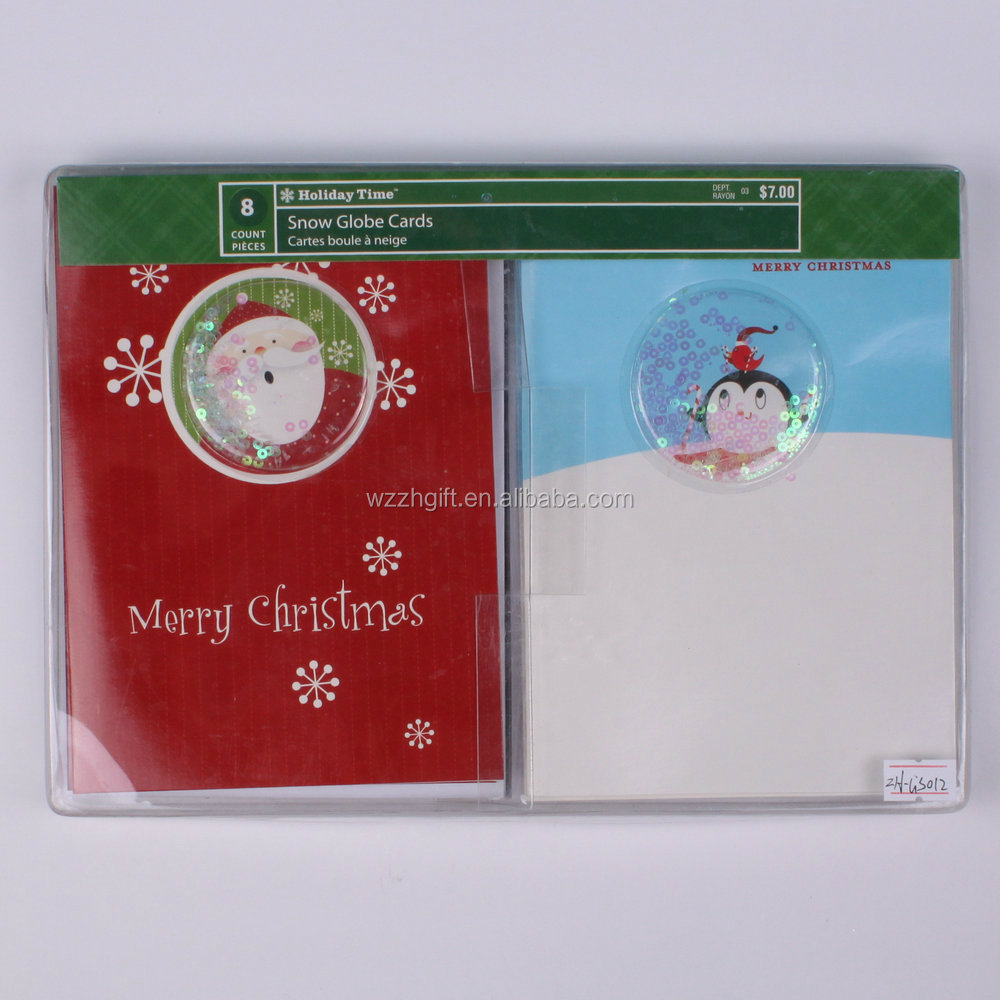 New product 2016 handmade chirstmas greeting card for party