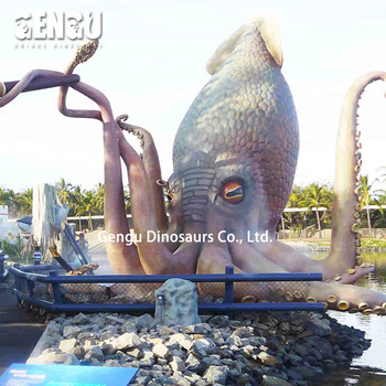 Ocean Amusement Park Equipment Animatronic Cuttlefish