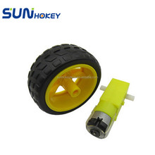 Sunhokey High Quality 1:48 3V 6V 65MM Diameter Wheel DC Gear Motor for Toy Car/Smart Car Robot