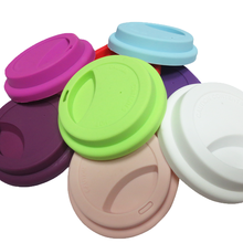 Customized silicone rubber coffee cup lid plug topper cover lid for cups